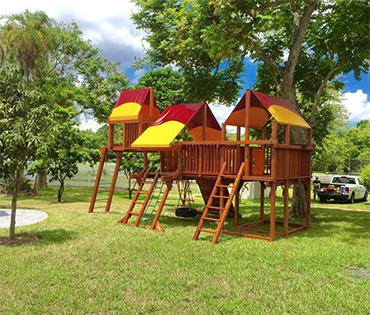 Woodplay playset in Southwest Ranches Florida, installed by Play King