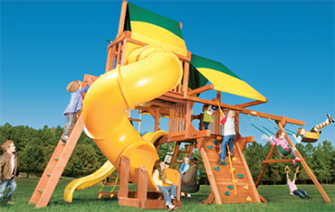 Play King, South Florida dealer for Woodplay and Swing Kingdom wood and vinyl playsets and swingsets.