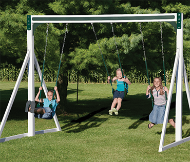 Swing Kingdom vinyl free standing swing set