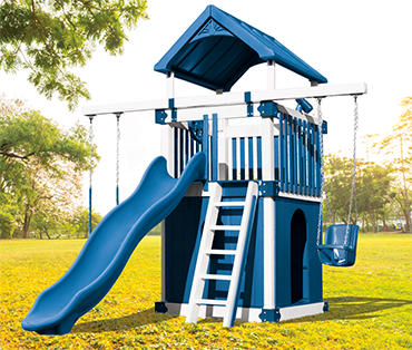 Swing Kingdom Kastle Tower KC-1 Clubhouse vinyl playset swingset from Play King Davie Florida