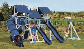 Play King sells, installs, and services the complete Swing Kingdom line of innovative and durable vinyl playsets. Your South Florida Swing Kingdom dealer.