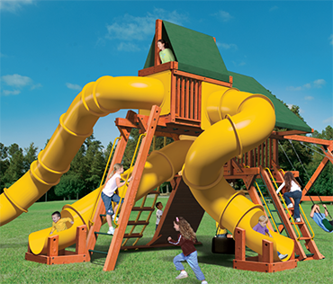 Woodplay Mega Set 2, MEGA.2, cedar wood playset from Play King, Davie Florida