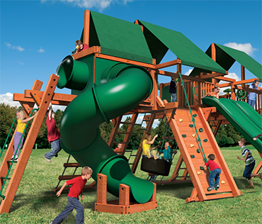 Woodplay Mega Set 3 (MEGA.3) Double Outback 7'playset sold, installed, and serviced by Play King, Davie Florida