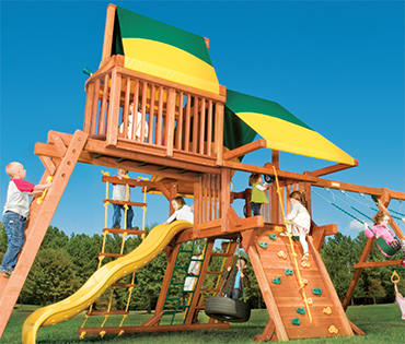 Woodplay Outback 5-C cedar wood playset from Play King, Davie Florida
