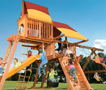 Woodplay Outback 6'-B cedar wood playset from Play King, Davie Florida