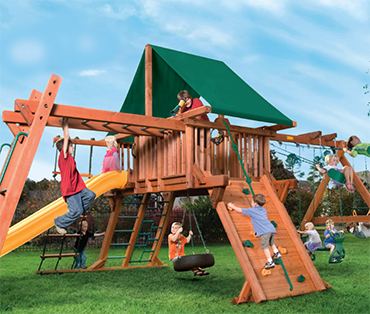 Woodplay Outback XL 5'-A playset cedar playset fromPlay King