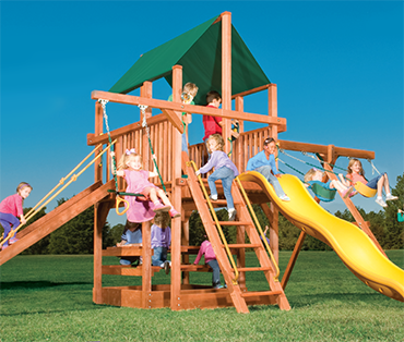 Woodplay Playhouse XL 5'-A cedar playset sold, installed, serviced by Play King, South Florida Woodplay dealer
